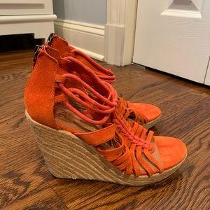 "Orange 4"" Dolce Vita wedges"